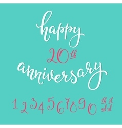 Happy Anniversary lettering sign quote typography vector image