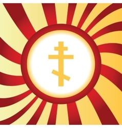 Orthodox cross abstract icon vector image