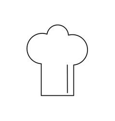 cheff hat icon vector image