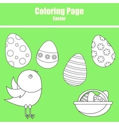 Coloring page Easter vector image