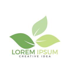 creative leaves concept logo design vector image