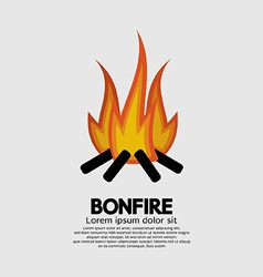 Isolated Bonfire Graphic vector image