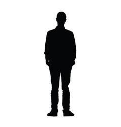 man black silhouette vector image vector image