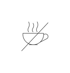 no hot drink line icon vector image
