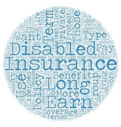 Private long term disability insurance text vector