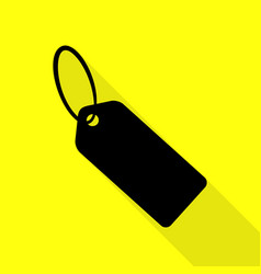 tag sign black icon with flat style vector image vector image