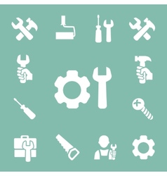 working tools isolated icons set of hammer wrench vector image vector image