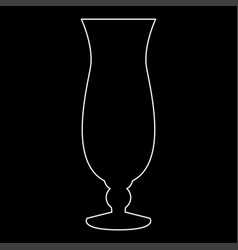 cocktail glass white color path icon vector image vector image
