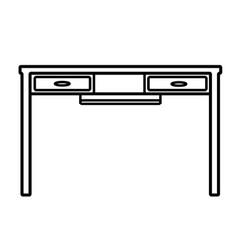 desk icon vector image
