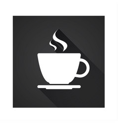 flat icon of simple coffee cup vector image