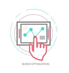 line design concept of website analytics vector image vector image