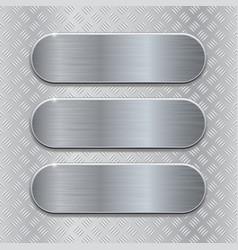 metal brushed plates on non slip metallic surface vector image