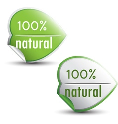 Natural stickers vector image