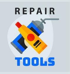 Repair tools adhesive foam icon creative graphic vector