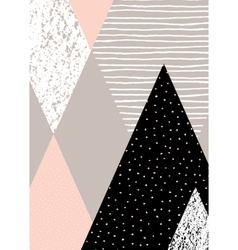 Abstract Geometric Landscape vector image vector image