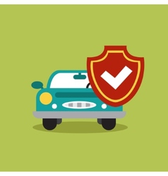 concept of auto loan in flat design vector image