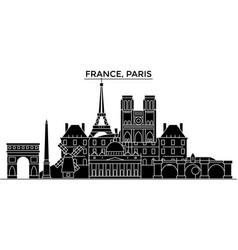 france ile de france paris architecture vector image vector image