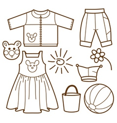 set for children vector image vector image