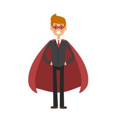 superhero business man character vector image vector image