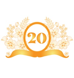 20th anniversary banner vector