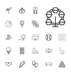 22 recreation icons vector