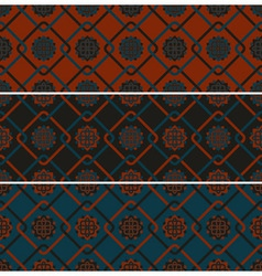 3 seamless patterns vector