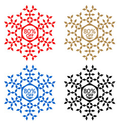 80 off discount sticker snowflake 80 off sale vector image