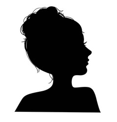 A silhouettes head girls vector