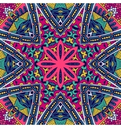 Abstract colorful floral pattern vector image