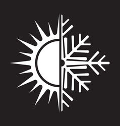 Air conditioning icon - summer winter vector