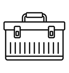 Aircraft repair tool box icon outline style vector