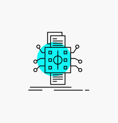 analysis data datum processing reporting line icon vector image