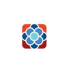 atom molecule cell chemistry logo icon sign vector image