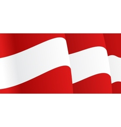 Background with waving Austria Flag vector image