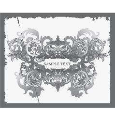 Baroque floral vector