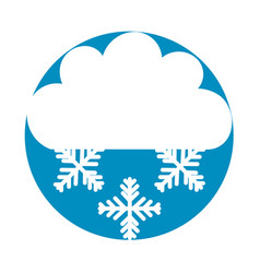 Beautiful fantasy cloud with snowflakes vector