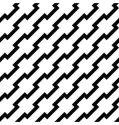 Black zigzag lines in diagonal arrangement vector