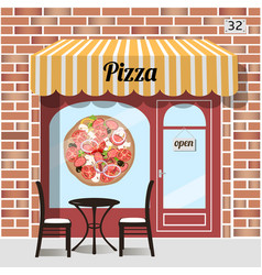 Cafe pizza fast food vector