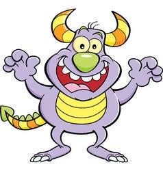 Cartoon grinning monster vector