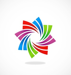 circular swirl business logo vector image