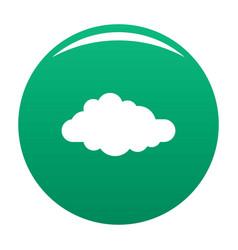 Cirrus icon green vector
