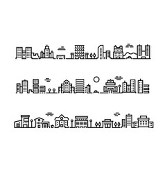 city outline landscape cityscape with business vector image