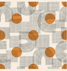 Contemporary seamless pattern with aesthetic hand vector
