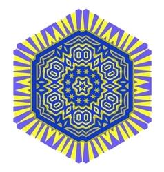 Creative Ornamental Blue Yellow Pattern vector image