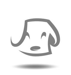 cute puppy head symbol icon vector image