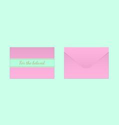 decorative pink envelope mock up vector image