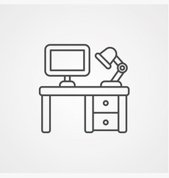desk icon sign symbol vector image