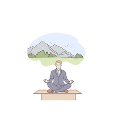 dream yoga meditation relax business concept vector image