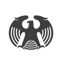 Eagle heraldic silhouette vector