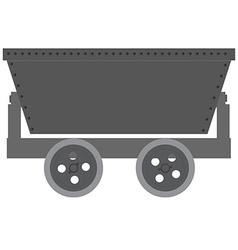 Empty minecart vector image
